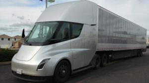 Tesla semi truck pictured is the future of the towing industry